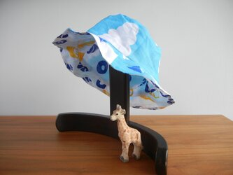 こども リバーシブル帽子 青空&パンの画像