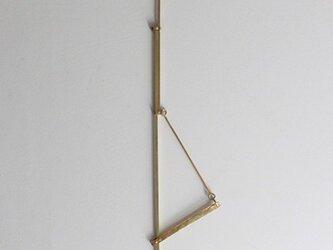 真鍮の自在鉤の画像