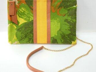 3way パナマと布帛のコンビクラッチ/グリーンの画像