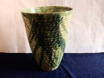 織部彫文鉢の画像