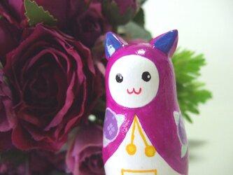 紫陽花ネコ・マトリョーシカの画像