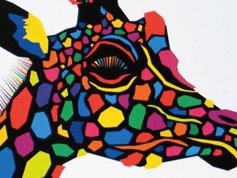 絵画 イラスト アート きりん キリン ジラフ A4-Kの画像