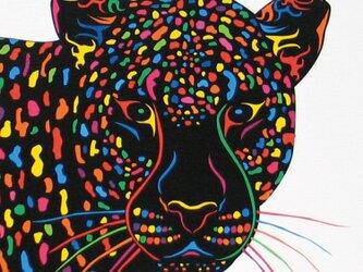 絵画 イラスト アート ヒョウ 豹 ひょう A4-kの画像