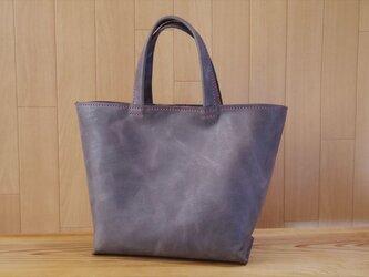 【受注生産】国産オイルドレザーのコロンとした厚マチトートバッグの画像