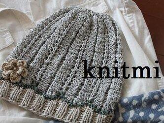 【シルク&綿】しめつけなし ニット帽子の画像