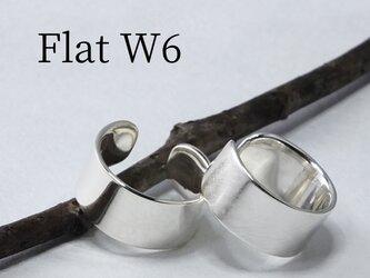 Cuff-Flat W6 - シルバー950製 イヤーカフ 幅6mm <鏡面/ツヤ消し 選択可>の画像