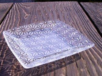 麻の葉文 正角皿の画像
