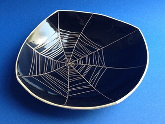 Black plate (spider web)の画像