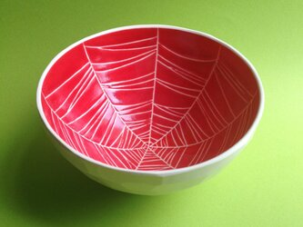 red bowl (spider web) 小の画像