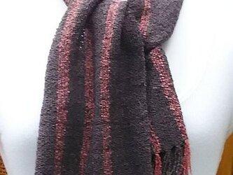 【No.0454】手織り草木染マフラー(絹100%)の画像