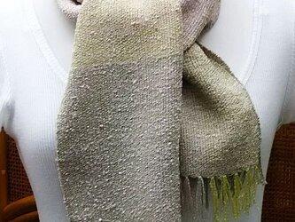 【No.0438】手織り草木染マフラー(絹100%)の画像