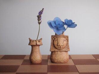 "SAVANNA   Chess vase      サバンナ チェスベース ""キングとポーン""  イエローオーカーの画像"