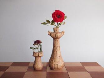 "SAVANNA   Chess vase      サバンナ チェスベース "" クイーンとポーン""  イエローオーカーの画像"