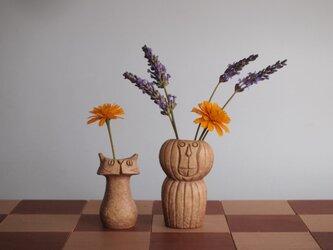 "SAVANNA   Chess vase         サバンナ チェスベース  "" ビショップとポーン""  イエローオーカーの画像"
