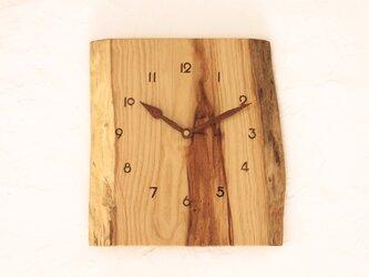 掛け時計 栗材⑥の画像