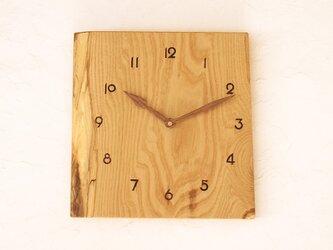 掛け時計 栗材⑧の画像