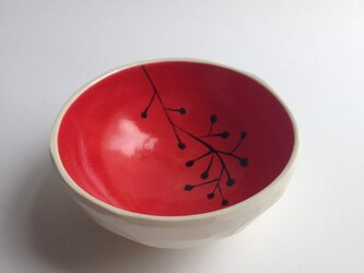 red small bowl (plants) 小の画像
