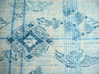 染見本生地 松喰い鶴と七宝文の画像