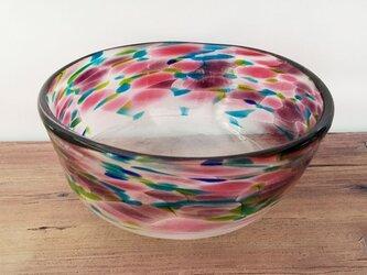 ガラスの器(mix color&微泡)の画像