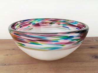 ガラスの器(mix color&白)の画像