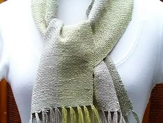 【No.0424】手織り草木染マフラー(絹100%)の画像