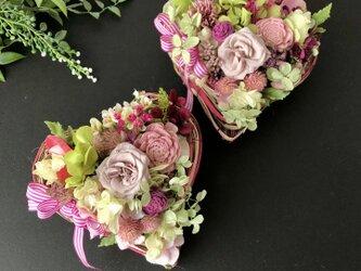Heart arrange ♡dry flowerの画像