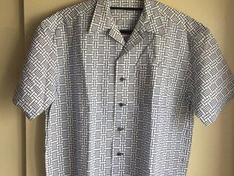 2L〜3L・浴衣シャツ(メンズ向け)伝統柄の画像