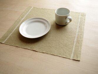 手織りリネンランチョンマット うぐいすの画像