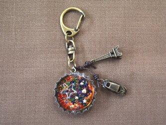 ボトルキャップのキーホルダー(星)の画像
