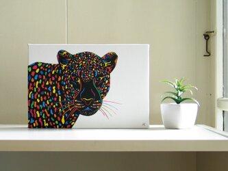 絵画 イラスト アート パネル ヒョウ 豹 ひょう SM-02の画像