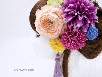 髪飾り(33)~ラナンxダリア~の画像