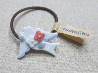 小花つばめヘアゴムの画像