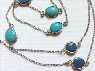 sv blue long necklaceの画像