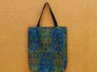 大島紬の手提げ袋 の画像