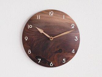 掛け時計 丸 ブラックウォールナット材⑤の画像