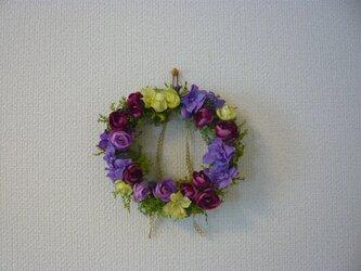 *紫陽花とラナンキュラスのリース*の画像
