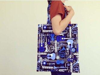 トートバッグ(M) 「ブルー・ミュージック」の画像