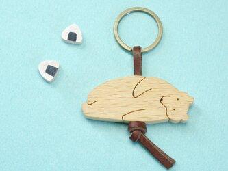 ころりんシロクマ / 熊 木のキーリングの画像