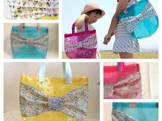 選べるリバティ♡リボンプールバッグの画像