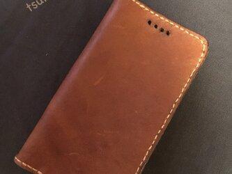 最後の一品♡牛ヌメ革 iphone6 6s携帯ケース ブラウンの画像