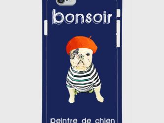 """""""Frenchie the Artist"""" iphone 5s/6/6s/SE/7/8/X 専用 ハードケースの画像"""
