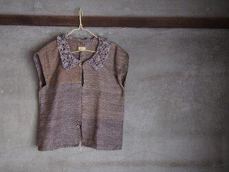 手織り/cotton blouse 編襟ト上下貝 (+orimi)の画像