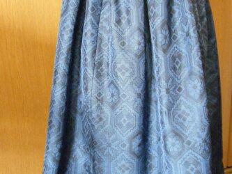 着物リメイク 大島紬スカートの画像
