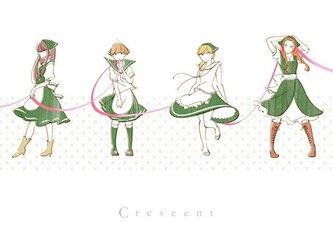 crescent イラストポストカード6種の画像