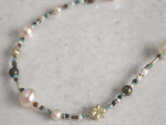 Vintage beads long necklace {OP150}の画像
