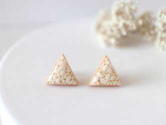 三角ピアス  お米、キヌアの画像