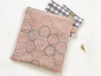 ポーチ[花蕾]桜貝色の画像