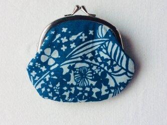 [再出品] 藍染 がまぐち 「水草」の画像