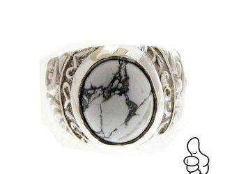 Impact Ring(マグネサイト)8~30号対応 男女クール&大きな天然石・デザインの指環 小指ピンキーもおすすめの画像