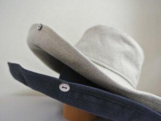 N様ご注文商品 M.15 ボタンUP帽子 紺の画像